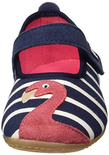 Living Kitzbühel Ballerina Streifen Mit Flamingos, chaussons d'intérieur fille Mehrfarbig (Marine)