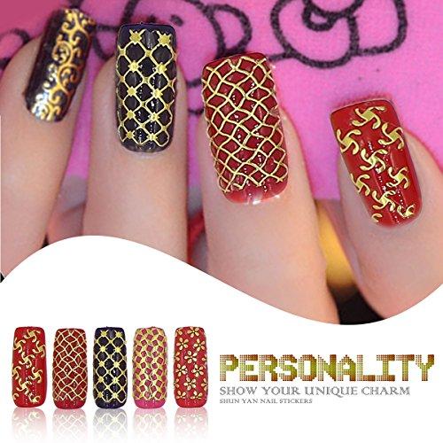 lieferadresse deutschland amazon schweiz gellen goldene nagelsticker nagel aufkleber f r. Black Bedroom Furniture Sets. Home Design Ideas
