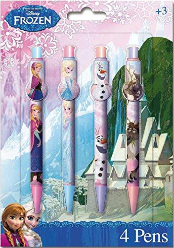 Disney - 4 Set Penna A Sfera Frozen Snow Queen Scuola Cancelleria