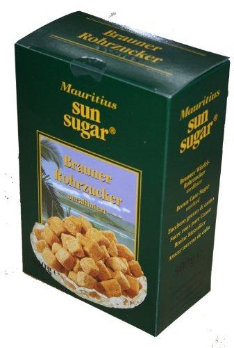 6x 500g Brauner Rohrzucker Mauritius Sun Sugar unraffiniert