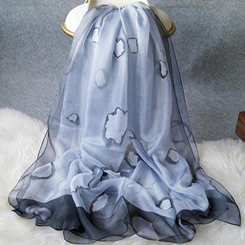 YQQ Foulards Dame Polyester Impression Élégant Toute La Saison Rectangulaire Echarpe 110 * 180cm (Couleur : E)