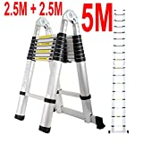 5M Aluminium Multi-Purpose Folding Telescopic Ladder A Frame Shape EN131