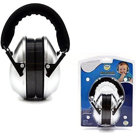 Protectores / Audición del sonido de los niños orejeras - Defensores de la venda del oído ajustables para niños, Plata
