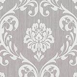 P+S Vlies Tapete Ornament 1311-030 Barock Struktur Braun Grau Neu Vliestapete