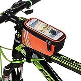 "Lixada Bicicletta Borsa Manubrio Borsa Tubo Anteriore Bicicletta Bicicletta Anteriore Tubo Top Bike Smartphone Bag 5,7 ""Supporto Telefonico"