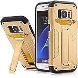 Funda Galaxy S7 Edge, Samsung Galaxy S7 Edge Funda,LTWS [Armor Series] 2in1 Combinación Escudo Cáscara Dura funda carcasa case para Samsung Galaxy S7 Edge -Gold