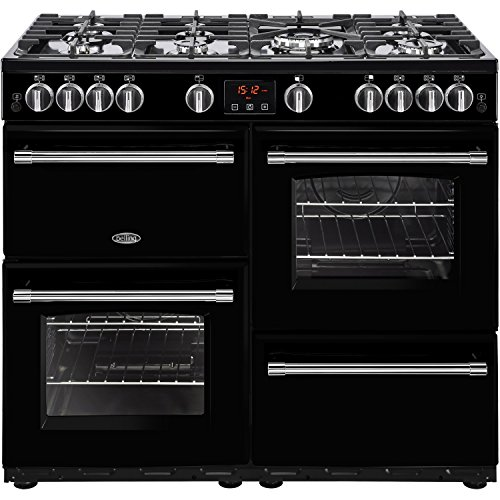 Belling Farmhouse 100G 100cm Gas Range Cooker Black Best Price and Cheapest