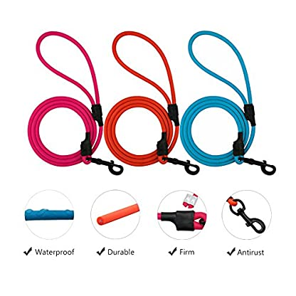 SACRONS-Waterproof Dog Leash/PVE Contains High Strength Nylon Materials/Wear-resistant and Dirty/Easy to Clean/Excellent… 2