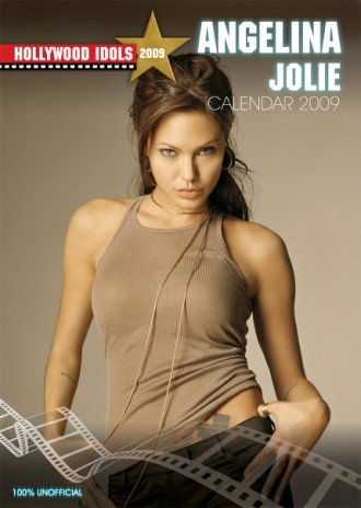 Click for larger image of Angelina Jolie 2009 Calendar