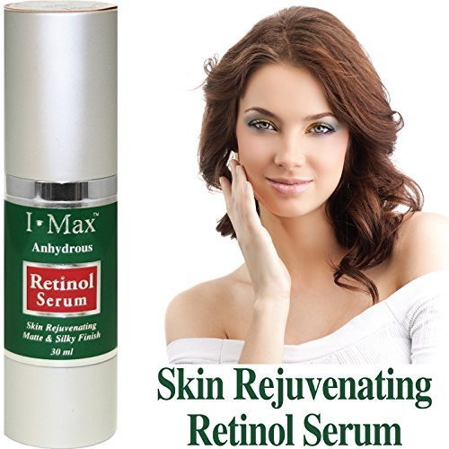 I Max Anhydrous Serum of Retinol, Tocopherol, B-Carotene, CoQ-10, Omega 3 6 9 and Rose Hip Seed Oils to rejuvenate, soothe, firm skin and reduce wrinkles/Gel Type Serum by