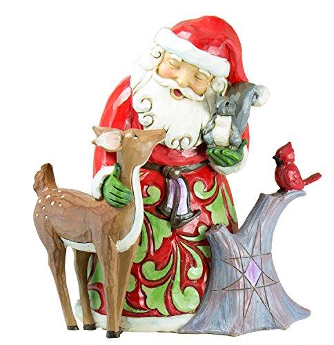 ENESCO Jim Shore Woodland Wonderland Santa mit Halblange und Tiere Figur -