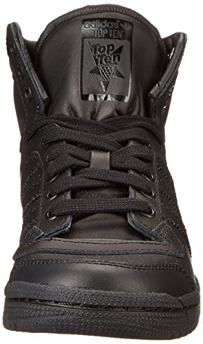 Adidas Top Ten Hi J Black Black Youths Trainers Black Black