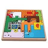 taluoahc Römisches Bunte 3D Cartoon Tiere Holz Puzzles Puzzle Spielzeug für Kinder Intelligenz entwicklung Baby frühen lernspielzeug