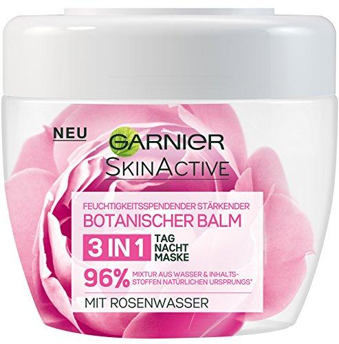 Garnier Botanischer Balm 3-in-1 Tages-, Nachtpflege und Maske mit Rosenwasser, schützt, stärkt und...