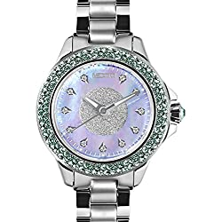 MEDOTA Farfalla.D Women's Studded Automatic Water Resistant Analog Quartz Watch - Blue
