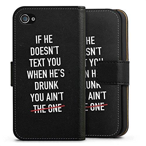 Apple iPhone X Silikon Hülle Case Schutzhülle Sprüche Liebe Party Sideflip Tasche schwarz