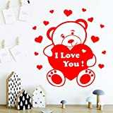 Modeganqingg Bear Wall Art Applique Etiqueta de la Pared Mural Dormitorio Cuarto de niños Decoración para niños Habitación XL 58cm X 62cm