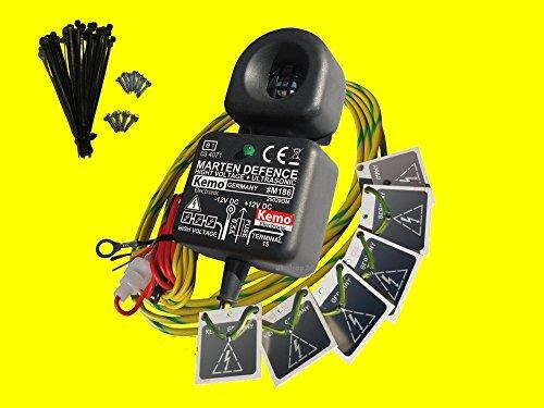 Preisvergleich Produktbild KEMO Elektro-Schock Marderscheuche Marderabwehr Marderschutz 12V/DC m. Elektroschock-Platten, M186
