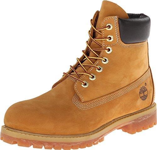 Timberland Herren 6 In Premium Waterproof Klassische Stiefel, Gelb (Wheat Nubuck), 45 EU