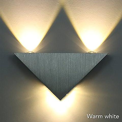 Sunix® 3W Warm White LED Wall light,Triangle Sconce KTV Hall Hallway Lamp ,LED Decorative Lights
