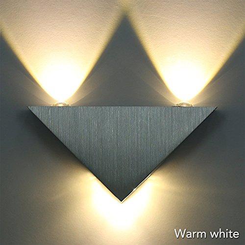 Sunix® Applique de triangle, Applique murale LED blanc chaud lampe hall Couloir...