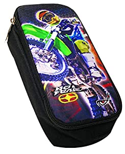 FACTORYCR- Portatodo Just Ride no Fear 10x23x6 cms Estuche, Multicolor, 23 x 10 x 6 cm (347-44140)