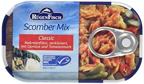 Rügen Fisch Scomber-Mix Makrelenfilet, 15er Pack (15 x 120 g Dose)