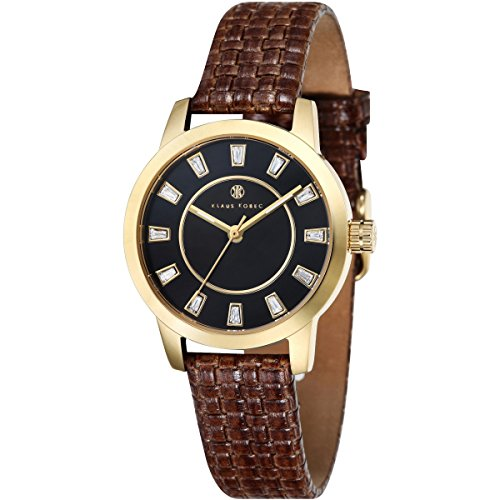 Klaus Kobec KK-10014-03 Ladies Daphne Brown Calf Knitting Leather Strap Watch
