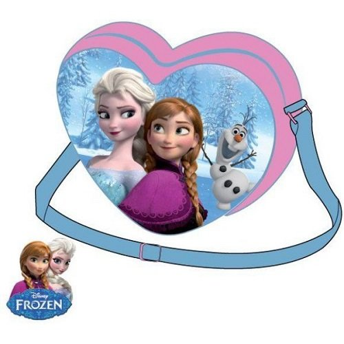Disney – La Reine Des Neiges Sac Forme Cœur – Rose – Taille Unique