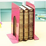 Tiedribbons&Reg; Handcrafted Non-Skid Base Steel Bookends (1 Pair)(Pink)