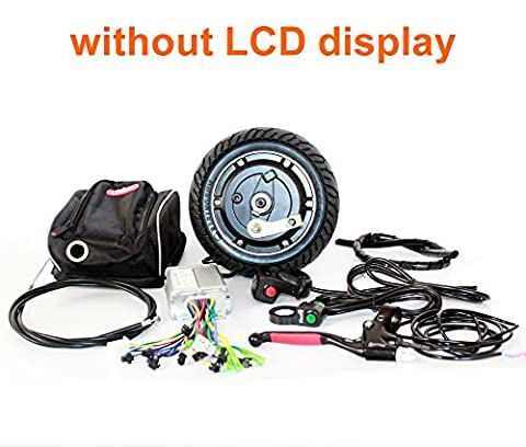 8 inch electric scooter brushless hub motor 36V350W motor kit for tride trikke bike homemade mobility scooter instead of walk (without LCD display)