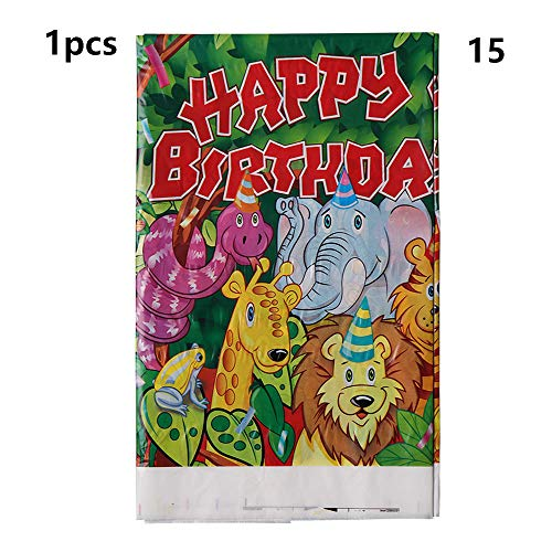 Cartoon Animal Herzlichen Glückwunsch Party Favoriten Baby Shower Thema Safari Banner Tuch Karten zur Einladung(1pcs-Tablecover)