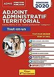 Concours Adjoint administratif territorial - Catégorie C - Tout-en-un - Concours externe, interne, 3e voie, examen professionnel 2020...