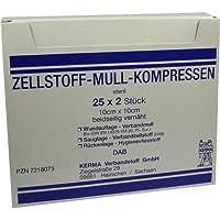 ZELLSTOFF MULLKOMPRESSEN 10cmx10cm steril 25X2 St preisvergleich bei billige-tabletten.eu