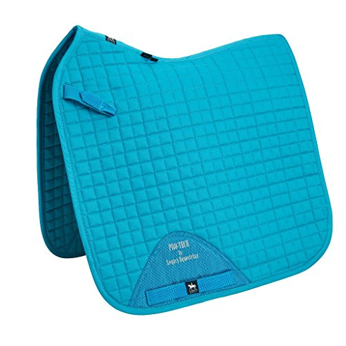 Legacy Equestrian Pro-Tech Dressage Saddlecloth Turquoise Pony-Cob