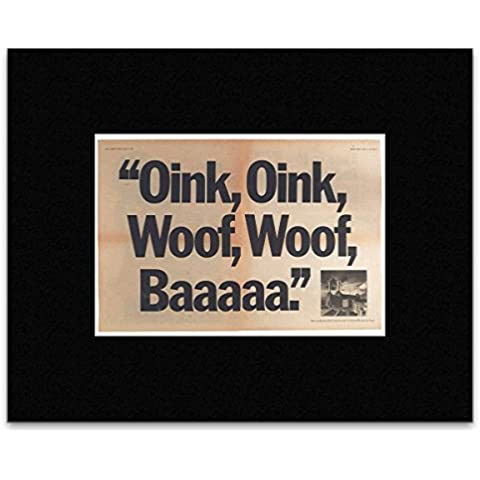 PINK FLOYD - Animals UK Press Ad 1977 enmarañado Póster - 8,6 x 12,9 cm