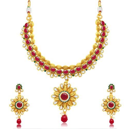 Sukkhi Modish Gold Plated Choker Necklace Set For Women