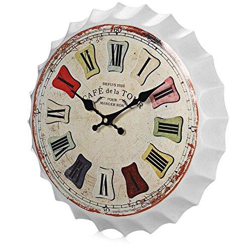 Panties Retro Bier Cover Uhren und Uhren Wanduhr Persönlichkeit kreative Heimat Wohnzimmer Persönlichkeit Uhr ( Color : A )