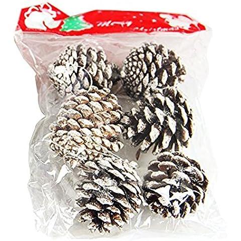 Navidad conos del pino Decoraciones colgantes, Garland Árbol Rosa Schleife® decoraciones de Navidad de la nieve conos del pino Adornos de boda Decoraciones celebración de días festivos Nuevo Festival (años Celebración de un paquete de