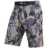 Pantaloncini MTB Brisk, Coolamax imbottito, staccabile rivestimento interno, Free Style Formato adulto (Camo Brown Black, L)