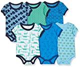Care Baby - Jungen Kurzarm-Body im 6er Pack, Blau (Light Sky Blue 770), 86
