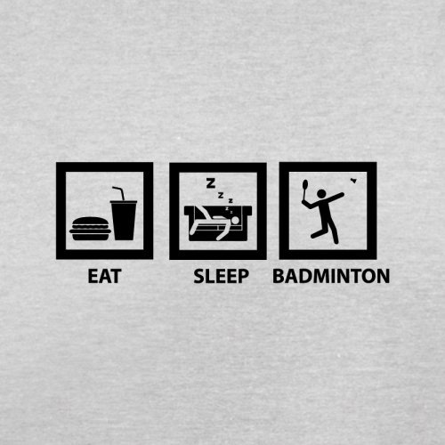 Eat Sleep Badminton - Herren T-Shirt - 13 Farben Hellgrau