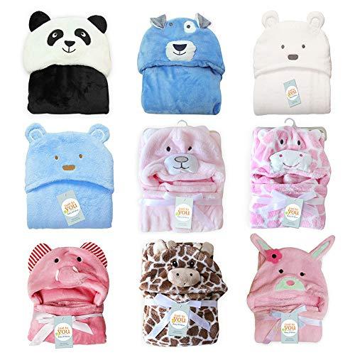 it Kapuze, Kapuzenhandtuch und Waschlappen Set, Kapuzenbadetuch mit Ohren für Babys, Eule, 39x39 inches ()