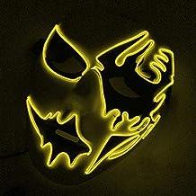 Máscara de escayola, alambre LED máscara de luz para Halloween, cosplay, fiesta,