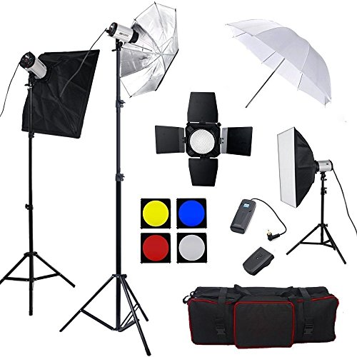 BPS 750W Professionale Fotografia Studio Flash Lighting Kit di Strobe
