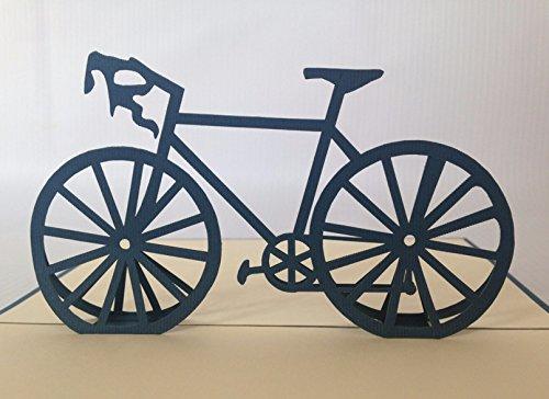 Fahrrad New Grußkarte, durch Sie Pop-Up-Grußkarte, Kirigami Papier Craft, Postkarten, Celebration, Gratulation... -