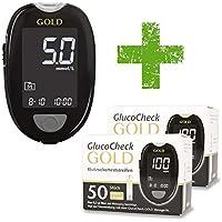 GlucoCheck GOLD Starter-Set [mmol/l] mit 110 Blutzuckerteststreifen preisvergleich bei billige-tabletten.eu