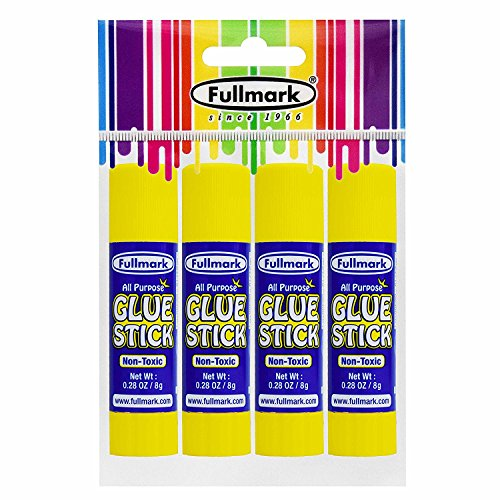fullmark multiusos pegamento, lavable, no tóxico, fuerte adhesivo transparente, 8g, apto para niños (4hilos)