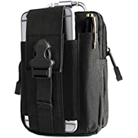 Unigear Molle Pouch, Compact EDC Utility Tactical Multi-Purpose Gadget Tool Waist Bag Pack with Extra Aluminum Carabiner
