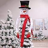 JUNMAONO Weihnachts Dekoration,Schneemann Baumspitze Dekoration,Weihnachtsbaum Topper weihnachtsbaumspitze Weihnachtsbaum Dekoration,Weihnachtsschmuck (94 * 120CM)